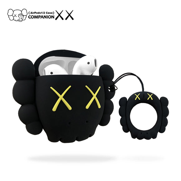 Kaws Head inspired AirPods cases - BLACK