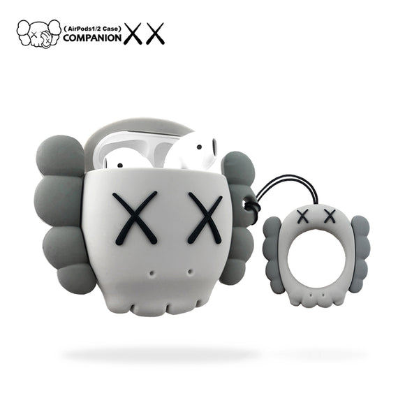 Kaws Head inspired AirPods cases - GREY (2 shades)