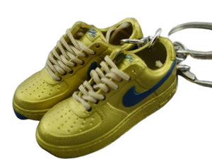 mini 3D sneaker keychains Air Force 1 low - Gold