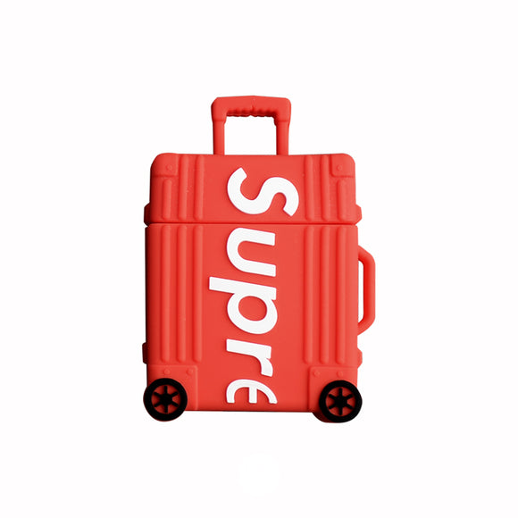 Airpods case - RED suitcase