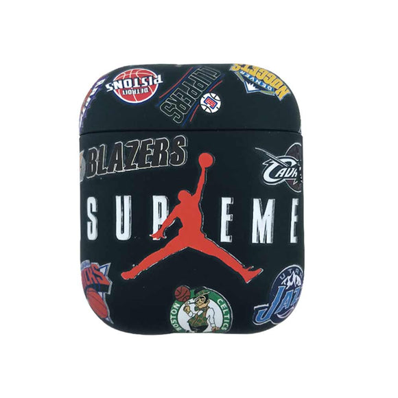 Air Jordan NBA inspired Airpods case - BLACK