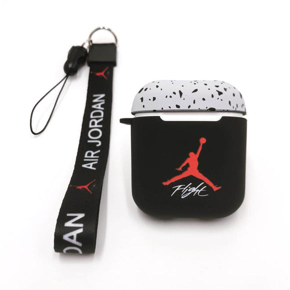 Air Jordan AirPods cases - CEMENT (with long strap)