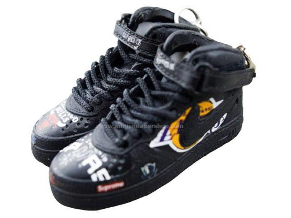 Mini sneaker keychain Air Force 1 NBA Black HIGH