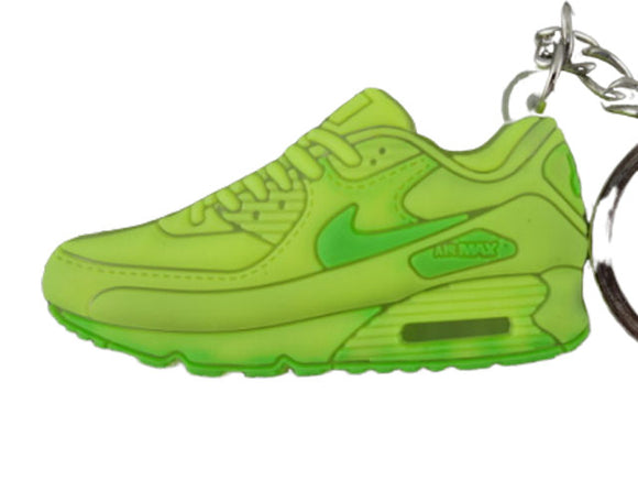 Flat Silicon  keychain - Airmax Neon Yellow