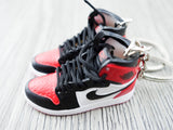 Mini sneaker keychain 3D Air Jordan 1 Black Toe