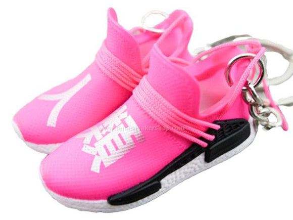 Mini sneaker keychain 3D Adidas x Pharrell Williams - Human Race - FUSHIA