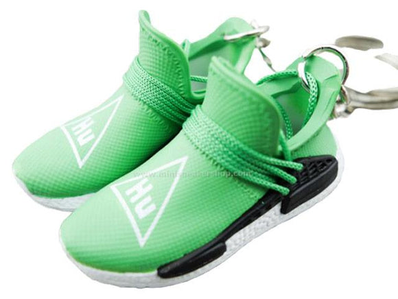Mini sneaker keychain 3D Adidas x Pharrell Williams - Human Race - Green