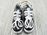 mini 3D sneaker keychains Air Force 1 x G-Dragon Black black and white