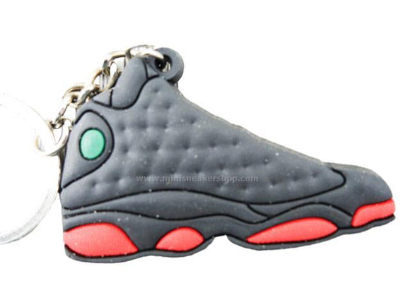 Flat Silicon Sneaker Keychain Jordan 13 - Dirty Red