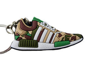 Flat Silicon Sneaker Keychain Adidas NMD Camo
