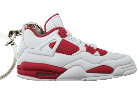 Flat Silicon Sneaker Jordan 4 - White Red
