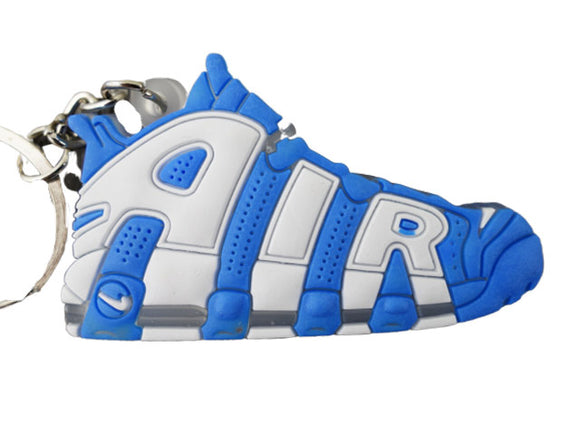 Flat Silicon Sneaker Keychain Nike Uptempo North Carolina