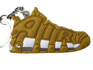 Flat Silicon Sneaker Keychain Nike Uptempo Gold