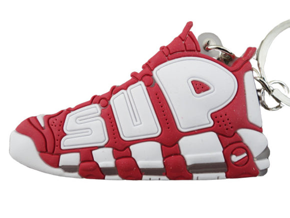 Flat Silicon Sneaker Keychain Nike Uptempo Burgundy SUP