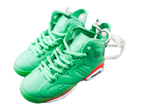 Mini Sneaker Keychains Air Jordan 6 - GATORADE green