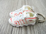 Mini 3D sneaker keychains Air Up Tempo - White and Red