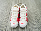 Mini 3D sneaker keychains Air Up Tempo - White and Burgundy