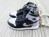 Mini sneaker keychain 3D Air Jordan 1 - Grey Shadow