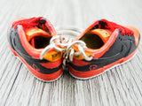 Mini sneaker keychain 3D SB Nike Dunk - Orange Black