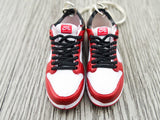 Mini sneaker keychain 3D Dunk SB low Chicago