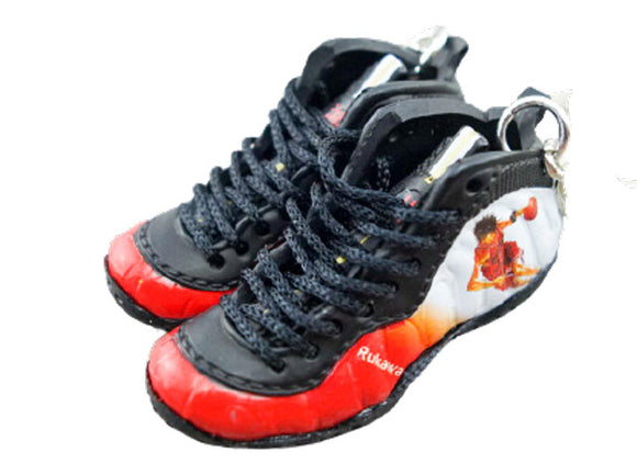 Mini sneaker keychain 3D Foamposite One Slam Dunk