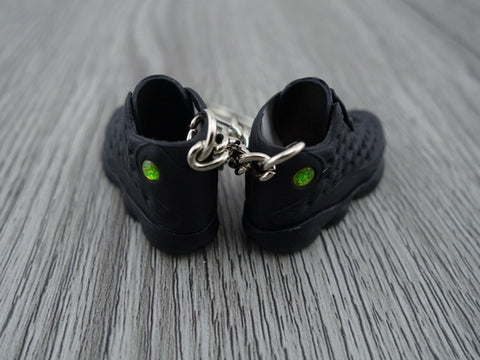 mini 3D sneaker keychains Air Jordan 13 OG Triple Black
