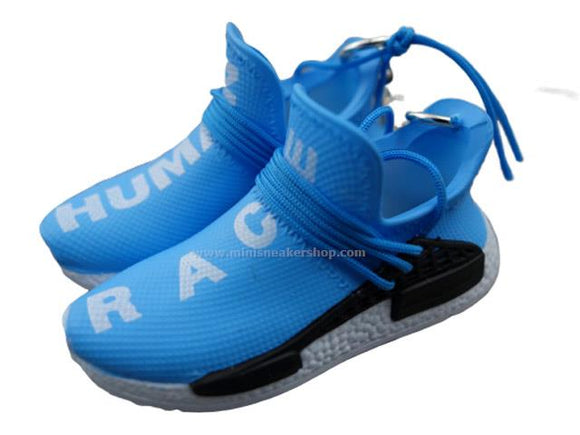 Mini sneaker keychain 3D Adidas x Pharrell Williams - Human Race - Blue