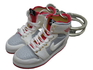 Mini sneaker keychain 3D Air Jordan 1 - WHITE/GREY/ORANGE HQ