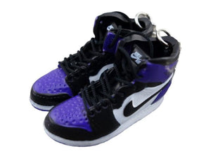 Mini sneaker keychain 3D Air Jordan 1 - Court Purple