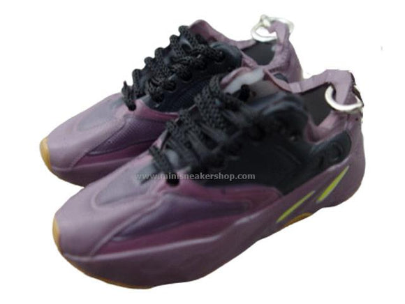 Mini Sneaker Keychains Adidas Yeezy Boost 700 - MAUVE with black laces
