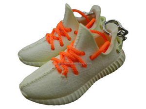 Mini Sneaker Keychains Adidas Yeezy Boost 350 V.2 - SESAME with orange laces