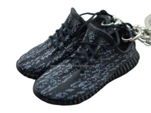Mini Sneaker Keychains Adidas Yeezy Boost 350 - Pirate Black