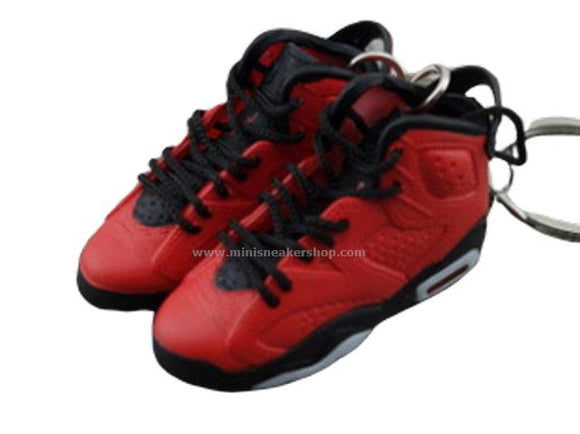 Mini Sneaker Keychains Air Jordan 6 - TORO Infrared