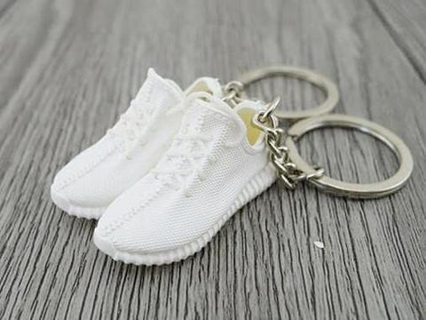 Mini Sneaker Keychains Adidas Yeezy Boost 350 White