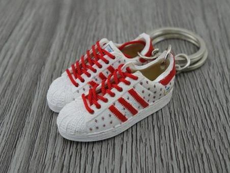 mini 3D sneaker keychains Adidas 35th London