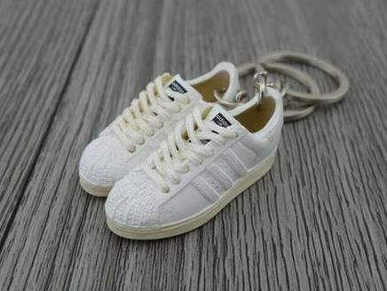 mini 3D sneaker keychains Adidas 35th Adicolor White