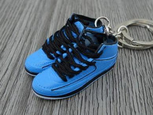 Mini Sneaker Keychains Air Jordan 2 - University Blue (1986)