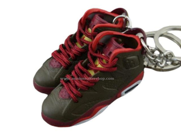 Mini Sneaker Keychains Air Jordan 6 - Cigar