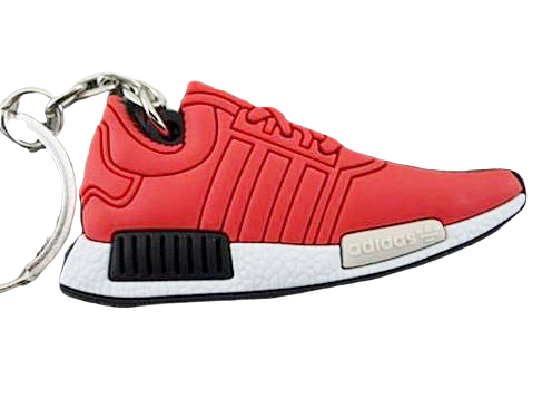 Flat Silicon Sneaker Keychain Adidas NMD - Solar Red