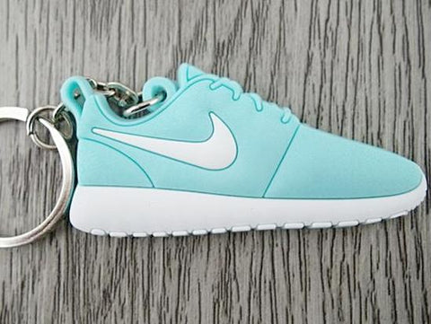 Flat Silicon Sneaker Keychain Nike Roshe Run - Turquoise