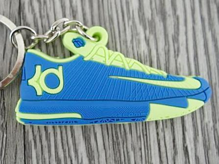Flat Silicon Sneaker Keychain KD - Blue/Yellow