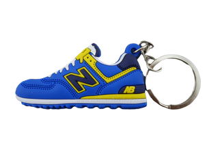 Flat Silicon Sneaker Keychain New Balance Blue/Yellow