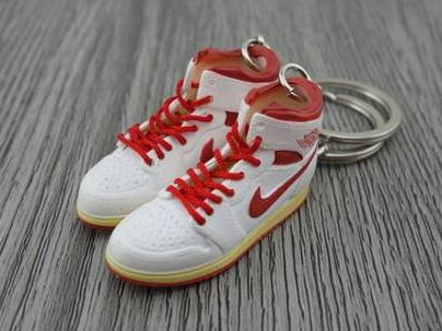 Mini sneaker keychain 3D Air Jordan 1 - Do The Right Thing