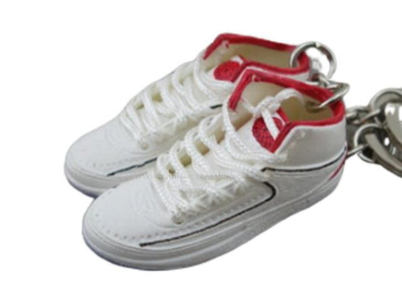 Mini Sneaker Keychains AJ2 - OG White Red (1986)