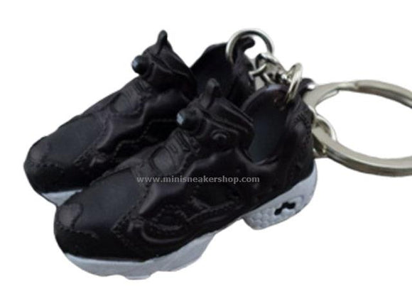 Mini 3D sneaker keychains   Fury Black White