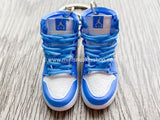 Mini sneaker keychain 3D Air Jordan 1 Alpha North Carolina Tar Heels