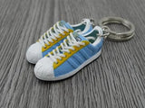 mini 3D sneaker keychains Adidas Superstar Lt Sky/Yellow