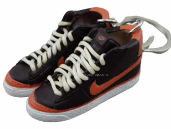 mini 3D sneaker keychains Nike Blazer - Brown/Orange