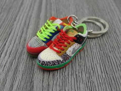 Mini sneaker keychain 3D Nike Dunk Lo - colorful