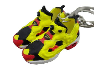 Mini 3D sneaker keychains Reebok Insta Pump Fury Yellow/Red